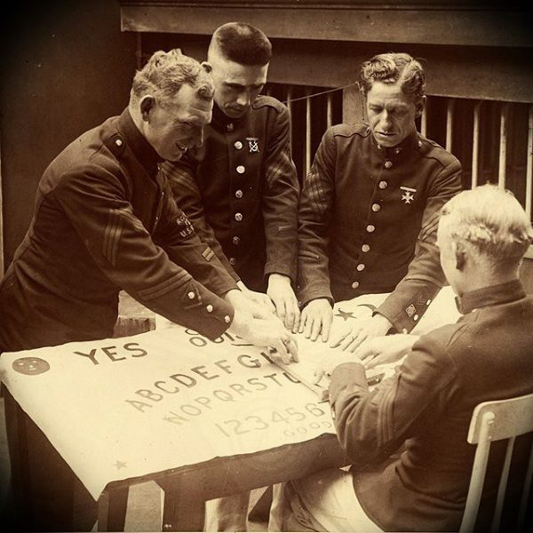 1944 Marines with Ouija board