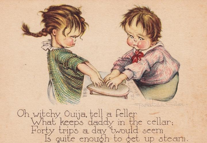 1920s Ruth Welch Silver Ouija postcard
