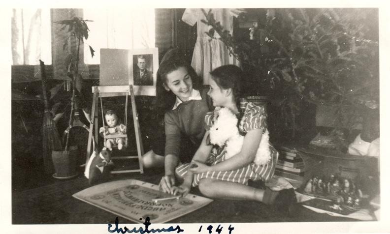 1944 Christmas Ouija tray