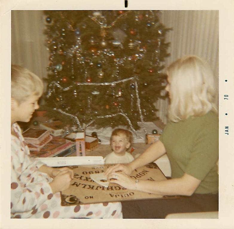 1970 Christmas ouija family